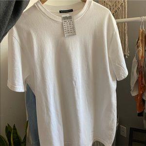 Brandy Melville White Oversized T-Shirt Dress